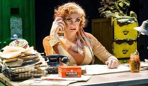 Craig Revel Horwood as Miss Hannigan. Photo by Paul Coltas.