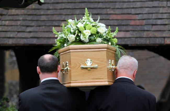 File photo of a funeral taking place