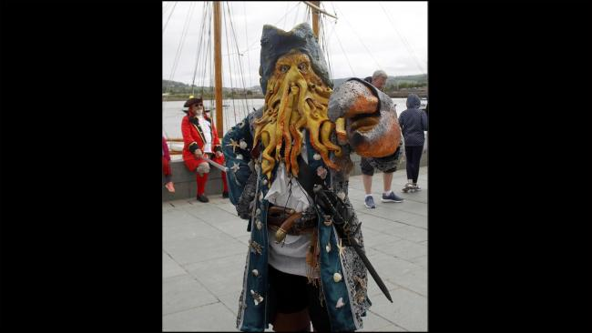 A colourful crustacean corsair in the mould of Davy Jones of the Pirates of the Carribean films at last year's event. Picture: Dave Thomas