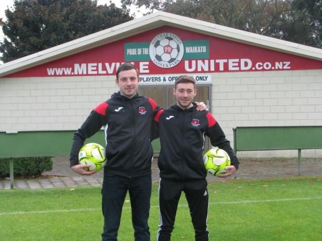 Mike and Craig Pritchard have arrived in New Zealand ahead of their Melville United debuts