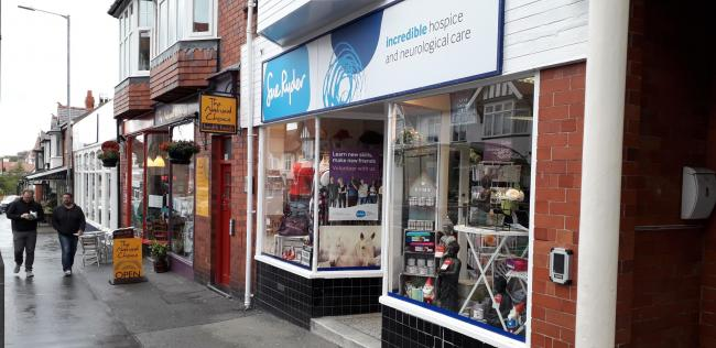 The Sue Ryder shop where the break in occurred. Picture: Kerry Roberts